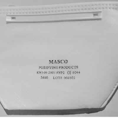 1 Lot de 10 masques anti-poussières FFP2 MASCO 3400
