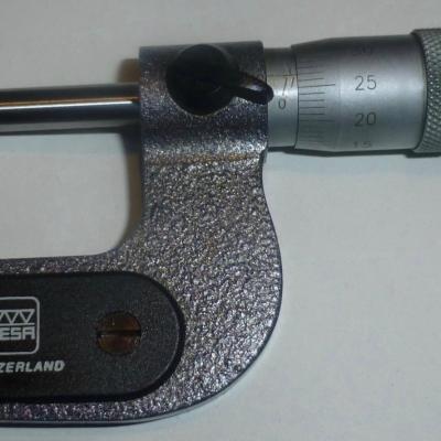Micrometer  TESA  0-25 mm 0,01 mm