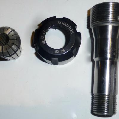 Tasseau porte pince  EX 25 /W20 schaublin 62-25004