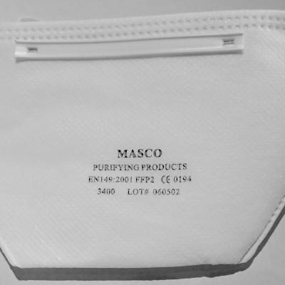 1 Lot de 20 masques anti-poussières FFP2 MASCO 3400