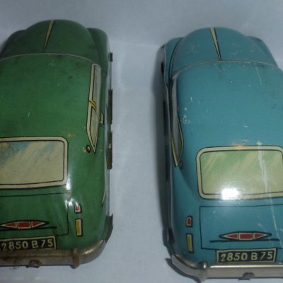 The Lot of 2 Former toy sheet steel transports 1:43