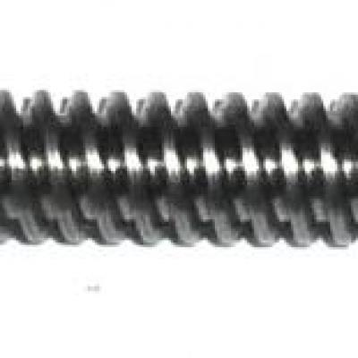 worm shaft  Ø 12 x 3 x 335 mm